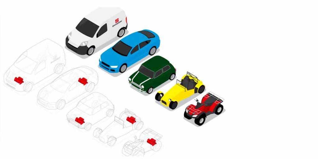 Compatibilité du moteur comptact tout en un Swindeon Powertrain avec des autres véhicules