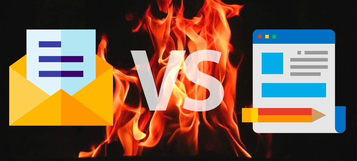 Comparatif blog vs e-mail