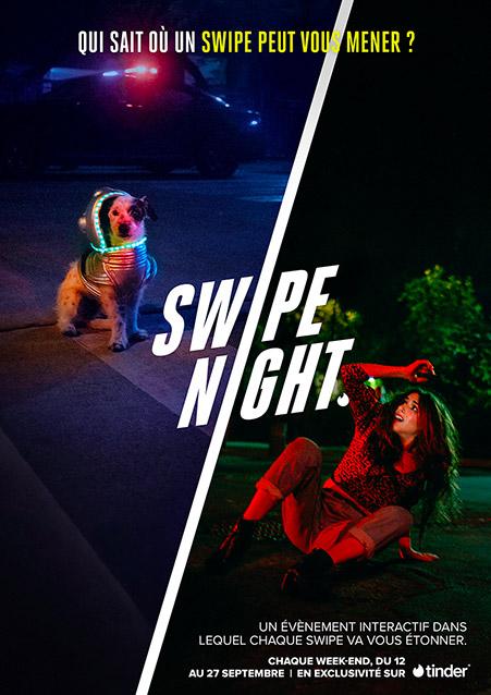 affiche de la swipe night de tinder
